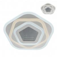 Plafoniera LED Stratos 01-2342, 75W, 7238lm, lumina calda / neutra / rece, telecomanda, dimabila, alb mat + satin + transparent