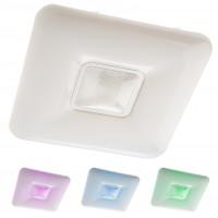 Plafoniera LED Azul 05-918, 48W, 3024lm, lumina calda / rece / multicolora, telecomanda, dimabila, control Tuya, alba