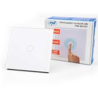 Intrerupator touch simplu cu indicator luminos, PNI SH101, incastrat, alb