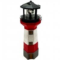 Lampa solara LED alb Hoff, far, polirasina + plastic, H 38 cm