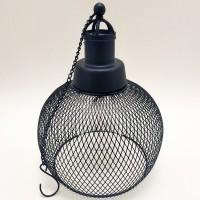 Lampa solara 5 LED-uri alb cald Hoff, suspensie glob, H 22.5 cm