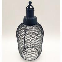 Lampa solara 5 LED-uri alb cald Hoff, suspensie cilindru, H 32 cm