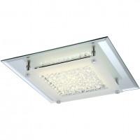 Plafoniera LED Liana 49301, 17W, 1460lm, lumina neutra, cromata + decoratiuni transparente