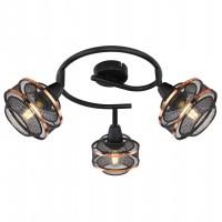 Plafoniera Bellona 54020-3, 3 x E14, negru + auriu