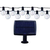 Instalatie cu panou solar LED 10 becuri, 5.5 m, 0.5W, lumina calda, IP65