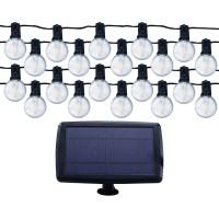 Instalatie cu panou solar LED 25 becuri, 7 m, 1W, lumina calda, IP65