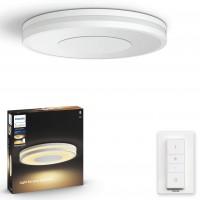 Plafoniera LED Philips Hue Being 3261031P7, 27W, 2400lm, lumina calda / rece, dimabila, alba + dimmer