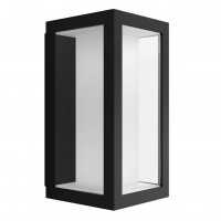 Aplica exterior cu LED RGB Philips Hue Impress 1742930P7, 2 x 8W, 1200lm, lumina calda / rece / multicolora, dimabila, IP44, neagra