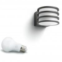 Aplica LED Philips Hue Lucca 1740193P0, 9.5W, 806lm, lumina calda, dimabila, IP44, antracit