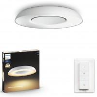 Plafoniera LED Philips Hue Still 3261331P6, 27W, 2400lm, lumina calda / rece, dimabila, kit cu intrerupator, alba