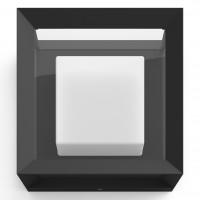 Aplica LED RGB Philips Hue Econic 1743830P7, 15W, 1150lm, lumina calda / rece / multicolora, dimabila, IP44, neagra