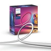 Banda LED RGB Philips Hue Play LightStrips, 20W, 1100lm, lumina calda / rece / multicolora, 65 inch