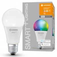 Bec inteligent LED Ledvance, wi-fi, clasic A60, E27, 9W, 806lm, lumina calda / rece / RGB, dimabil