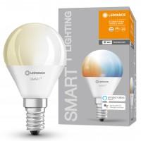 Bec inteligent LED Ledvance, wi-fi, mini P40, E14, 5W, 470lm, lumina calda / rece, dimabil