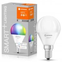 Bec inteligent LED Ledvance, wi-fi, mini P40, E14, 5W, 470lm, lumina calda / rece / RGB, dimabil