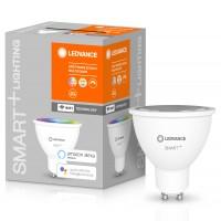 Bec inteligent LED Ledvance, wi-fi, spot, GU10, 5W, 350lm, lumina calda / rece / RGB, dimabil