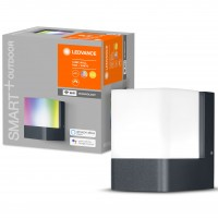 Aplica inteligenta LED Cube, wi-fi, 9.5W, 450lm, lumina calda / RGB, exterior IP44