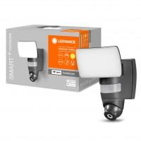 Proiector inteligent LED cu camera HD Ledvance, wi-fi, 24W, 1800lm, lumina calda, vizualizare live, difuzor incorporat, sirena de alarma, senzor de miscare, exterior IP44