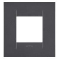 Rama Gewiss Chorus Geo GW16422VN, 2 module, negru - satin, pentru priza / intrerupator
