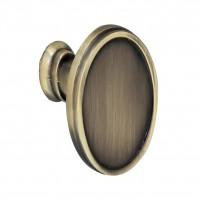 Buton pentru mobila, metalic, grafiat, 39 x 27 mm
