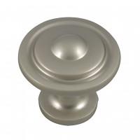 Buton pentru mobila, metalic, nichel satinat, 32 x 27 mm