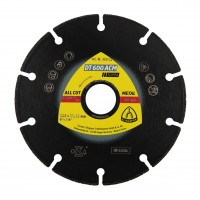 Disc diamantat, cu segmente, pentru debitare metale, Klingspor DT 600 ACM Supra, 125 x 22.23 x 1.3 mm