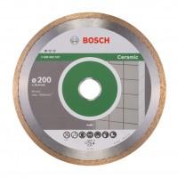 Disc diamantat, continuu, pentru debitare placi ceramice, Bosch Standard for Ceramic, 200 x 25.4 x 1.6 mm, 2608602537