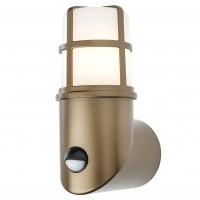 Aplica in sus exterior Triton 90199, 1 x E27, cu senzor de miscare, IP54, alama + opal