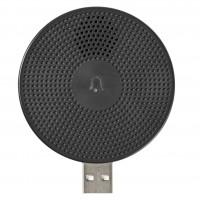Sonerie inteligenta wireless Nedis WIFICDPC10BK, alimentare USB, 60 m, accesoriu pentru WIFICDP10GY, 80dB, neagra