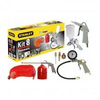 Kit accesorii pentru compresor, Stanley 9045671STN, set 8 piese