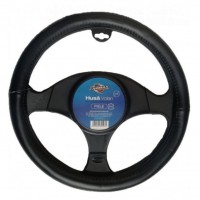 Husa auto pentru volan Carmax, piele, universala, negru
