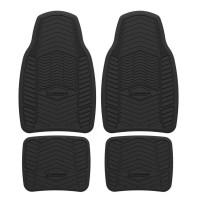 Covorase auto Michelin, cauciuc, universale, negru, set 4 bucati