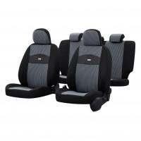 Huse auto pentru scaun, Otom Smart, universale, gri, set 11 piese