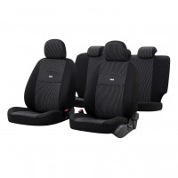 Huse auto pentru scaun, Otom Smart, universale, negru, set 11 piese