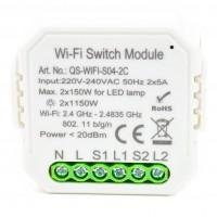 Releu inteligent SafeHome PNI-PT82C, 2 x 5A, control Tuya Smart, pentru prize / intrerupatoare