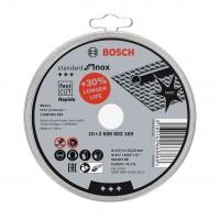 Disc debitare inox, Bosch Standard for Inox Rapido, 115 x 22.23 x 1 mm, set 10 bucati