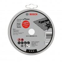 Disc debitare inox, Bosch Standard for Inox Rapido, 125 x 22.23 x 1 mm, set 10 bucati