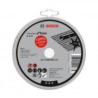 Disc debitare inox, Bosch Standard for Inox, 125 x 22.23 x 1.6 mm, set 10 bucati