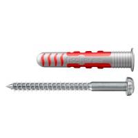 Diblu pentru fixarea obiectelor sanitare, din nylon, 8 x 48 mm, Fischer Duoseal, cu surub, 6 x 70 mm, cu cap bombat, TX 20, din inox