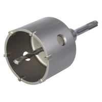 Carota cu burghiu de centrare, pentru beton / caramida / BCA, Wolfcraft 5460000, SDS-Plus, diametru 76 mm