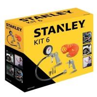 Set 6 accesorii pentru compresor, Stanley 9045717STN, 10 bari