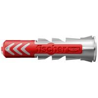 Diblu universal, din nylon, 6 x 30 mm, Fischer Duopower, cu surub, 4.5 x 40 mm, cu cap inecat, PZ2, set 12 bucati