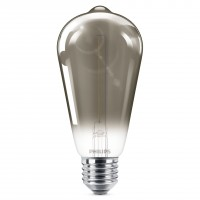 Bec LED filament somoky Philips clasic ST64 E27 2.3W 100lm lumina calda 1800 K