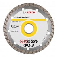 Disc diamantat, segmentat, pentru dbitare beton / zidarie / granit, Bosch Eco for Universal, 125 x 22.23 x 2.4 mm