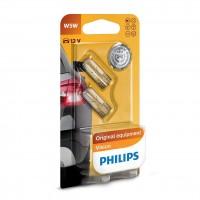Bec auto pentru semnalizare, Philips Vision W5W, 5 W, 12 V, set 2 bucati