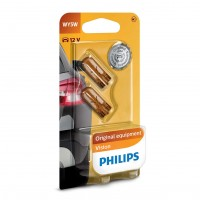 Bec auto pentru semnalizare, Philips Vision WY5W, 5 W, 12 V, set 2 bucati