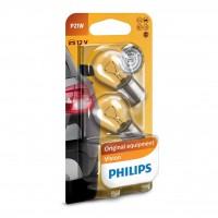 Bec auto pentru semnalizare, Philips Vision P21W, 21 W, 12 V, set 2 bucati