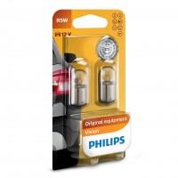 Bec auto pentru semnalizare, Philips Vision R5W, 5 W, 12 V, set 2 bucati