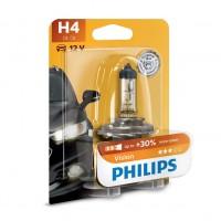 Bec auto pentru far, Philips H4, + 30 % vision, 60/55 W, 12 V