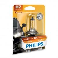 Bec auto pentru far, Philips H7, + 30 % vision, 55 W, 12 V